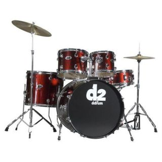 THIS AUCTION IS FOR ddrum D2 Blood Red 5 Piece Drum Set (Cymbals