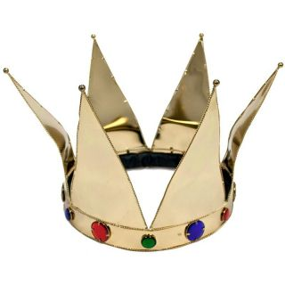 New Gold Color Metal Crown Royal King Queen Renaissance Prom Costume