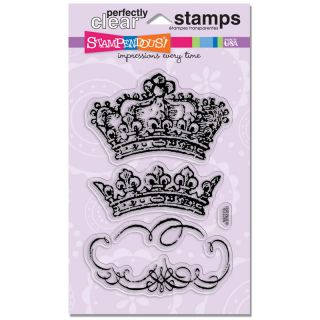Stampendous Vintage Crowns Perfectly Clear Stamps Set New Line NIP