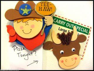Craft Kits Boys Rodeo Cowboy Memo Clip Bull ABCraft