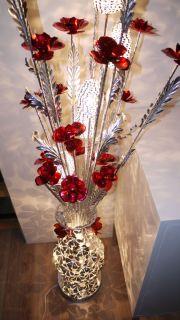 standard floor lamp designer bright crystal flower pattern beautiful