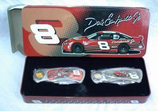 DALE EARNHARDT JR 2 KNIFE SET IN COLLECTOR TIN NASCAR DRIVER 8