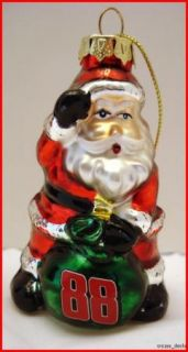 NASCAR Dale Earnhardt Jr 88 Christmas Tree Ornament Santa Claus of Lot
