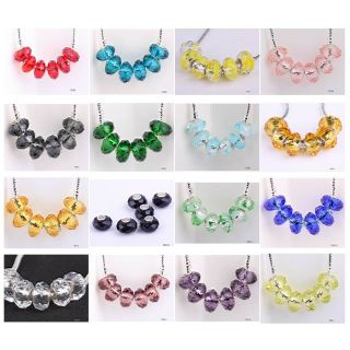 Lampwork Crystal Glass Spacer Beads fit European Charm Bracelet PDY