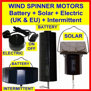 Electric Battery 4 Wind Spinners Crystal Twisters Iron Stop