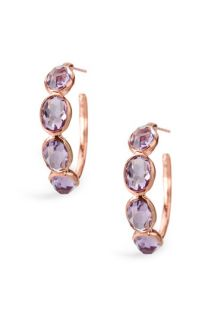 Ippolita Number 2 4 Stone Rosé Hoop Earrings