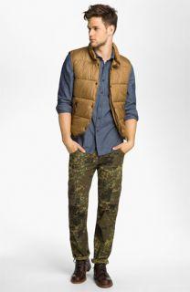 DIESEL® Puffer Vest, Deus Ex Machina Shirt & Alpha Industries Straight Leg Cargo Pants