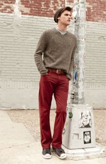 Vince V Neck Sweater, The Rail by Public Opinion T Shirt & AG Jeans Straight Leg Pants