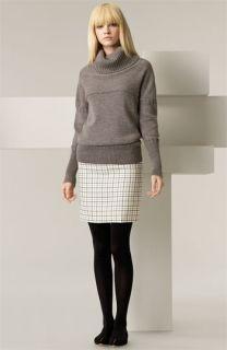 Chloé Chunky Turtleneck Sweater & Tattersall Wool Skirt