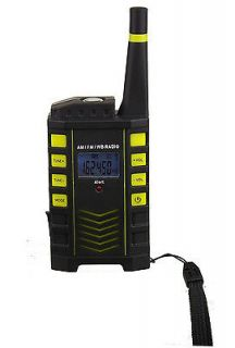 Kaito KA123 AM FM Weather Radio with Emergency Alert and Flashlight