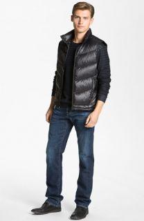 Bernardo Down Vest & AG Jeans Straight Leg Jeans