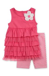 Sweet Heart Rose Tiered Ruffle Top & Pants Set (Infant)