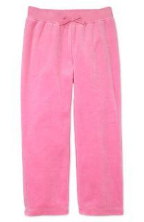 butterfly design Velour Pants (Toddler & Little Girls)
