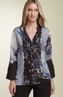 Citron Bell Sleeve Silk Blouse