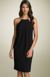 Lauren by Ralph Lauren Jewel Neck Halter Dress