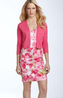 AK Anne Klein Floral Print Dress & Sweater Set (Plus)
