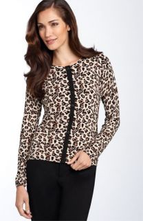Foxcroft Leopard Print Cardigan (Petite)