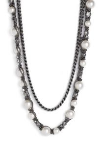 Givenchy Vanguard Faux Pearl & Chain Necklace