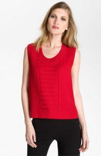 St. John Yellow Label Boxy Cable Knit Sweater