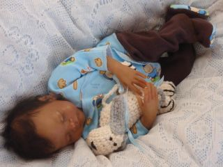 Reborn Micro Preemie Life Like Ethnic AA Biracial Baby Boy   Caleb
