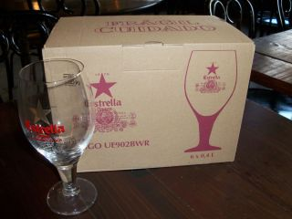 Estrella Damm Beer Glasses