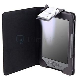 PU Leather Case Cover Wallet With LED Light For  Kindle 4 4th