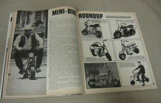 Dan Blocker BONANZAS HOSS On Mini Bike   September 1966 Rod & Custom