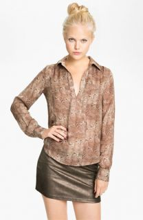 Haute Hippie Print Silk Shirt