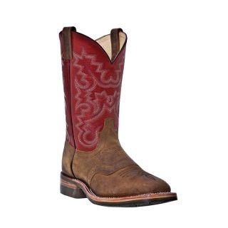 Mens Cowboy Boots Dan Post Castle Rock D M Broad Square Toe Brown