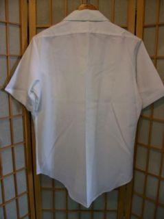 Vtg Creighton USA Naval Military Service Shirt M