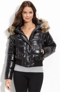 Vince Camuto Quilted Jacket with Faux Fur Trim