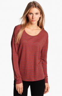 Eileen Fisher Stripe Linen Jersey Top