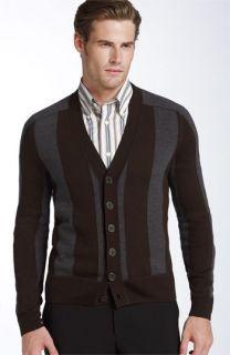 Façonnable Stripe Merino Wool Cardigan