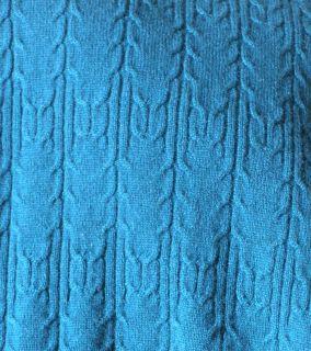 Dana Buchman Blue Green Cashmere Sweater Vest 2X