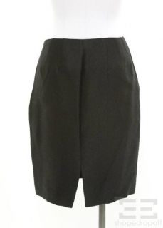 Dana Buchman 2pc Black Textured Silk Jacket & Skirt Set Size 4/6