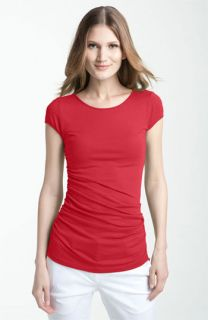 Theory Levanoa   Encase Ruched Stretch Pima Cotton Tee