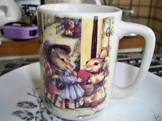 Otagiri Japan Susan Wheeler Mouse Badger Mug