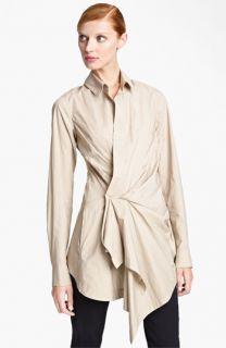 Donna Karan Collection Draped Paper Cotton Tunic