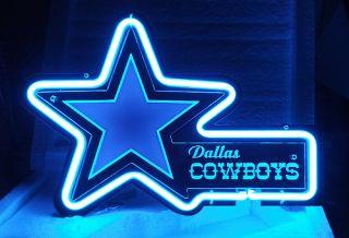 SD243 Dallas Cowboys Football Sport Team Display Neon Light Sign