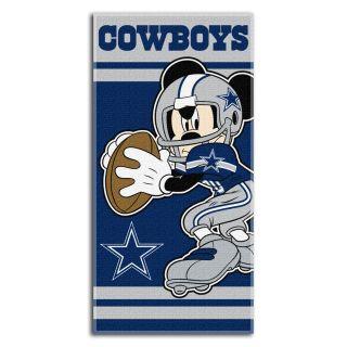 Dallas Cowboys Disney Mickey Mouse Terry Cloth 100% Cotton Beach/Bath