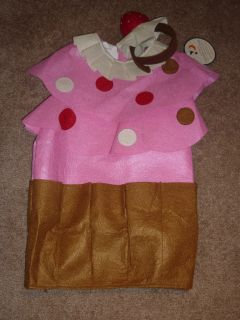 NWT POTTERY BARN KIDS CUPCAKE HALLOWEEN COSTUME TODDLERS 2T 3T