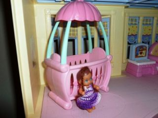 barbie krissy baby doll sz dollhouse furniture crib baby doll