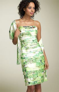 JS Collections Print Laser Cut Dress