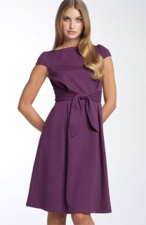 Adrianna Papell Belted Ponte Knit Dress