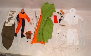 1960s Hasbro Gi Joe Brunette Painted Head with Accessories Ski Patrol