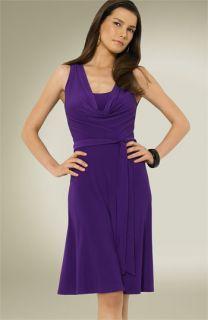 Lauren by Ralph Lauren Drape Neck Matte Jersey Dress