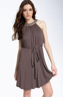 Velvet by Graham & Spencer Beaded Neck Dress