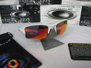 Jacket XLJ Matte White Frame w Ruby Red Polarized Custom Lenses