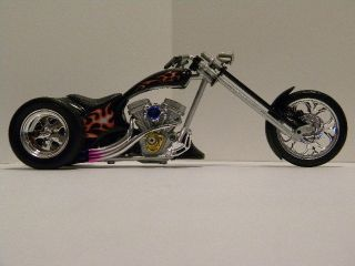 Custom Harley Davidson Flamed Monster Chopper Trike 1 12 scale