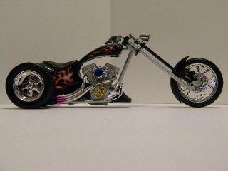 Custom Harley Davidson Flamed Monster Chopper Trike 1 12 scale